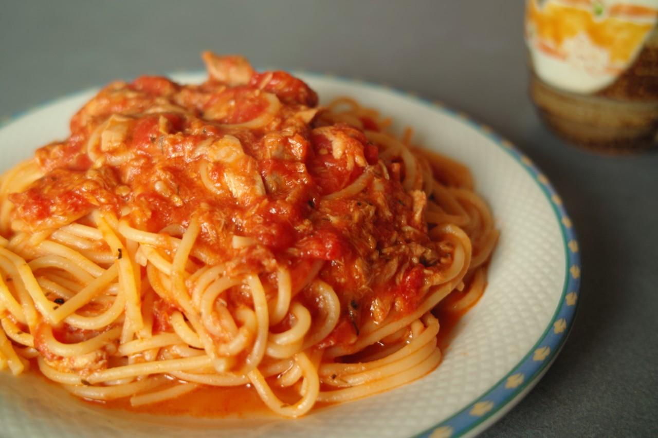 ツナ×トマト×パスタ♪トマトとツナの絶品パスタのレシピをご紹介♪のサムネイル画像