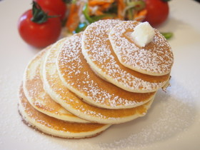 ホットケーキミックスに米粉をプラスして☆モチモチ食感レシピ5選のサムネイル画像