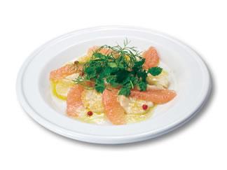ほどよい甘さと酸味が美味しい!グレープフルーツのサラダのレシピのサムネイル画像