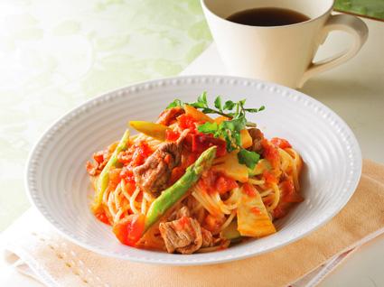 ボリューム満点♪牛肉を使った美味しいパスタのおすすめレシピ♪のサムネイル画像