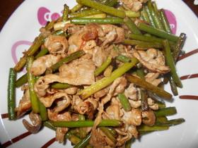 スタミナ抜群で夏バテ解消!にんにくの芽と豚肉の活力レシピのサムネイル画像