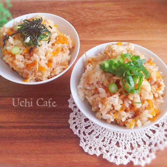 なめたけを入れてスイッチオン♪簡単美味♪なめたけの炊き込みご飯のサムネイル画像