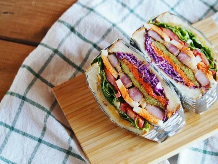 Instagramで人気のお洒落なサンドイッチ!わんぱくサンドの作り方のサムネイル画像